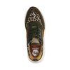 Grüne Sneaker mit Leopardenmuster
