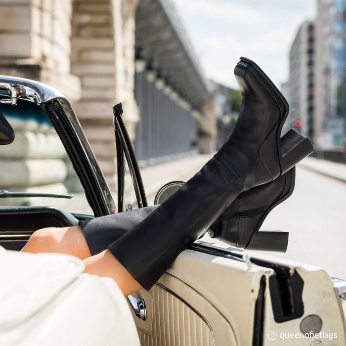 Queen of Jetlags x Sacha zwarte hoge laarzen