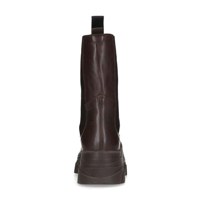 Queen of Jetlags x Sacha Chelsea boots - marron