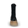 Queen of Jetlags x Sacha schwarze Schnürstiefeletten mit camelfarbenen Details