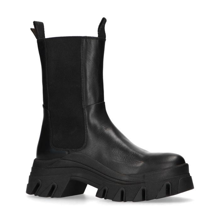 Queen of Jetlags x Sacha schwarze Chelsea Boots