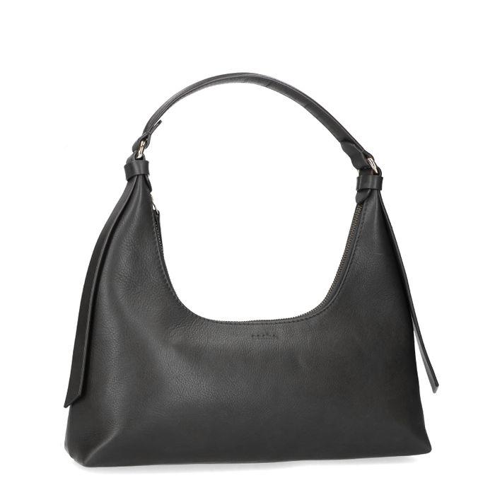 Queen of Jetlags x Sacha schwarze Lederhandtasche