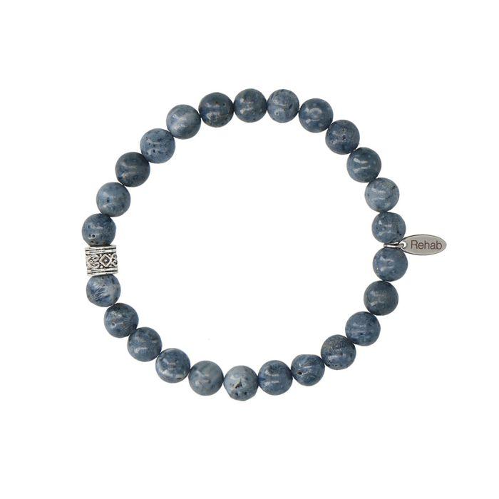 REHAB Agate Clubs lichtblauwe armband