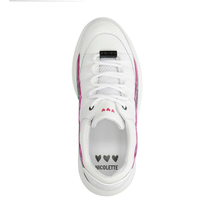 Nicolette x REHAB witte dad sneakers