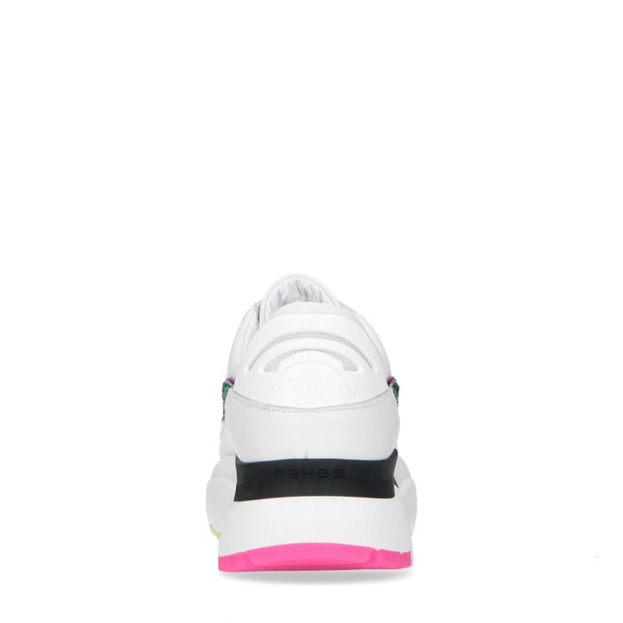 Dad shoes en cuir - blanc