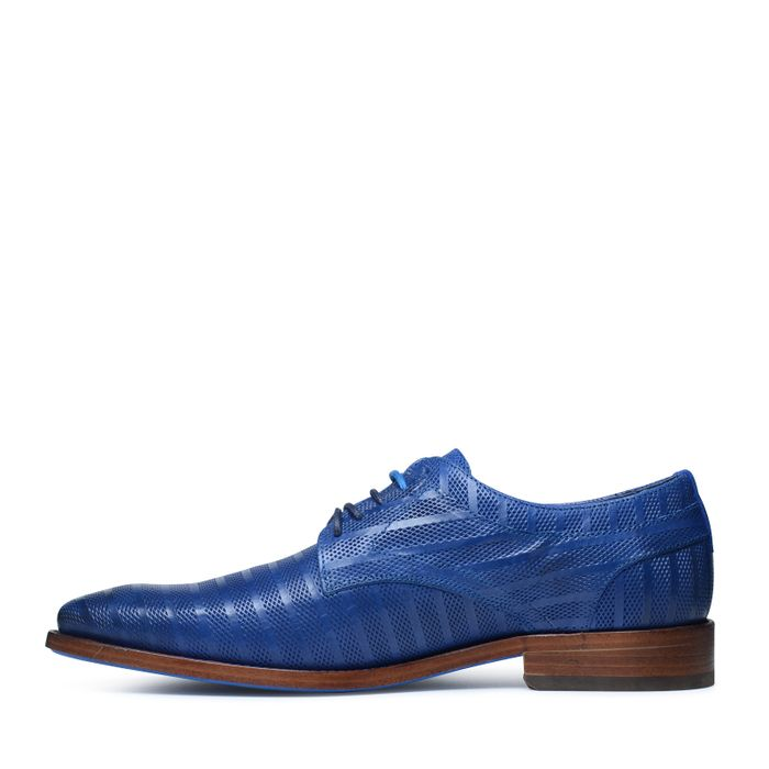 REHAB Brad stripes blauwe veterschoenen met motief