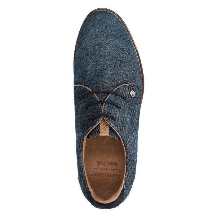 REHAB Nolan denim blauwe veterschoenen