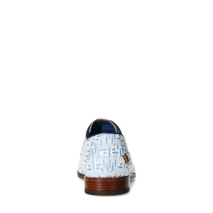 REHAB Greg weave blauwe veterschoenen