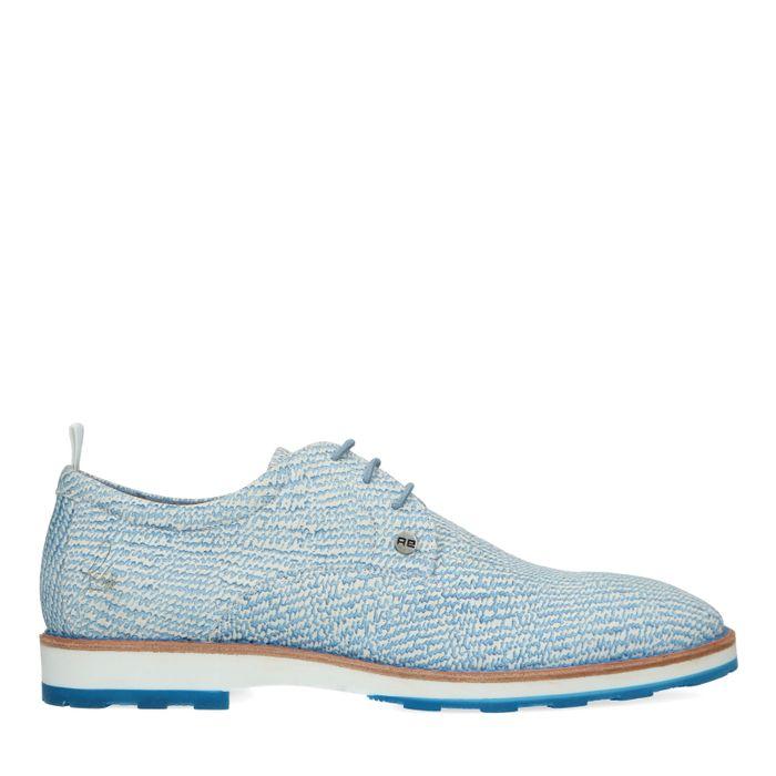REHAB Pozato sparkle blauwe veterschoenen