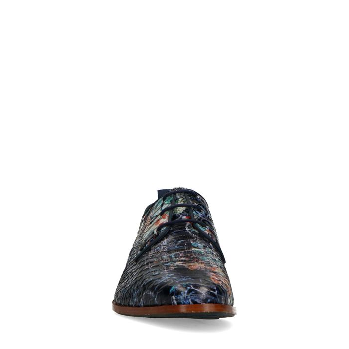 REHAB Greg snake blauwe veterschoenen
