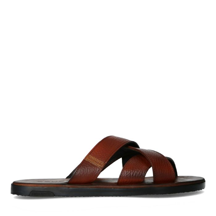 REHAB Raven tumble bruine slippers