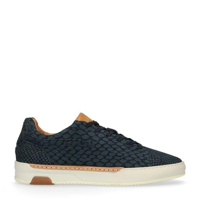 REHAB  Thomas Lizard donkerblauwe lage sneakers