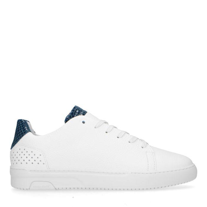 REHAB witte sneakers blauw hielstuk
