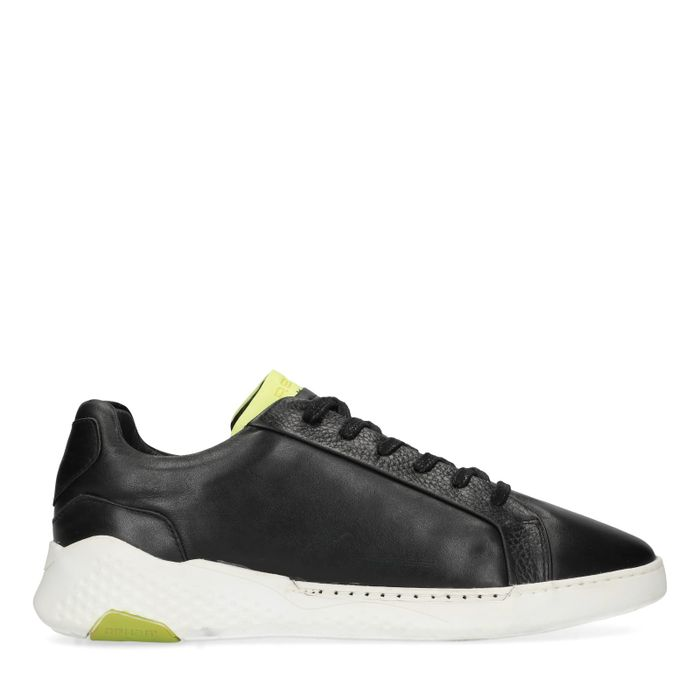 REHAB Rosco zwarte lage sneakers