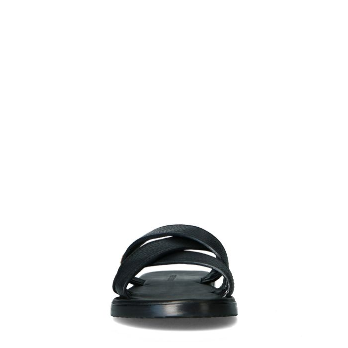 REHAB Raven tumble zwarte slippers