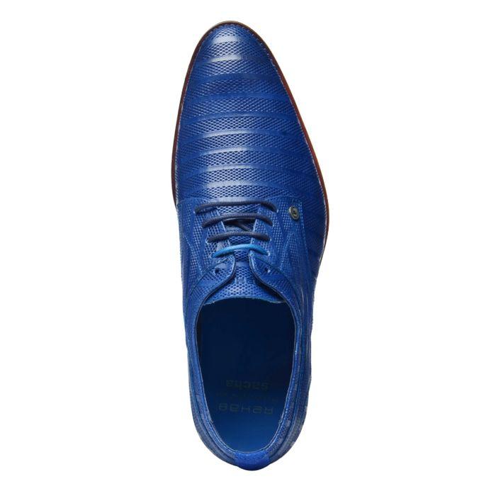 REHAB blaue Schnürschuhe mit Muster