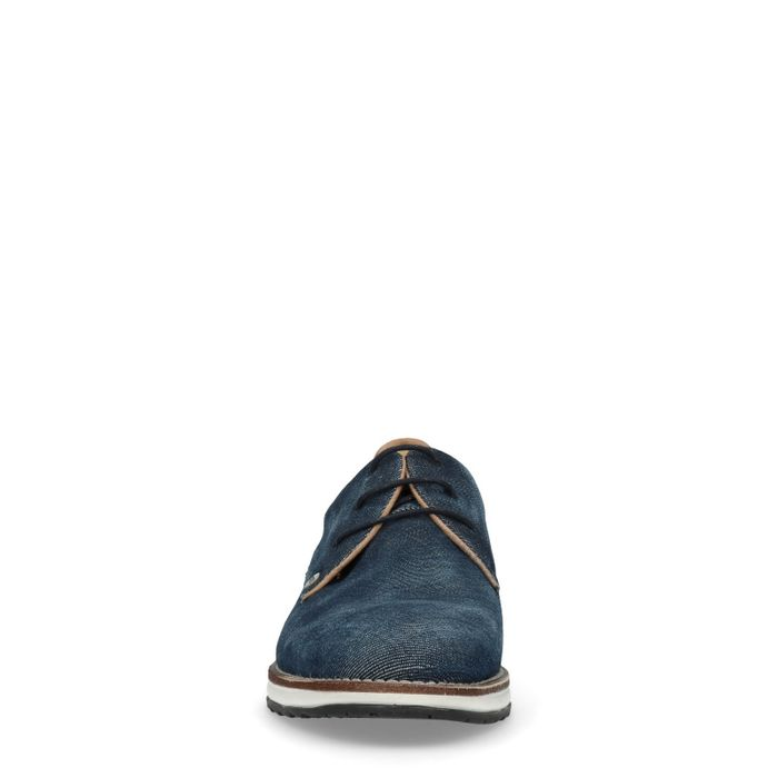 REHAB Nolan jeansblaue Schnürschuhe