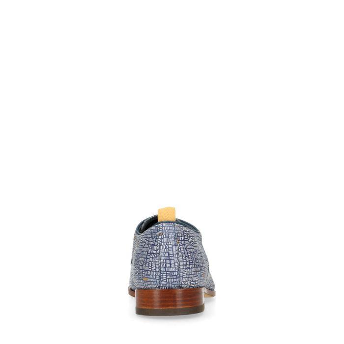 REHAB Fred Lettermess blaue Schnürschuhe