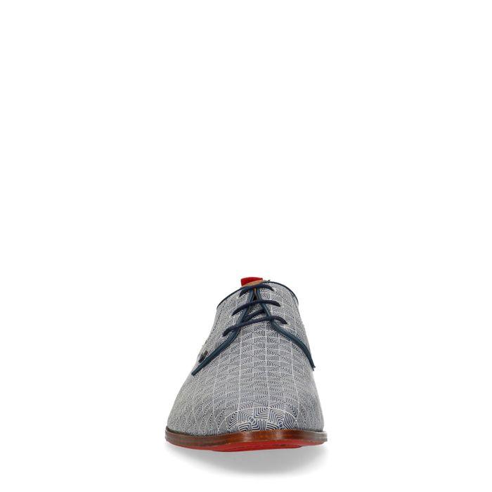 REHAB Greg Dizzy Checker blaue Schnürschuhe