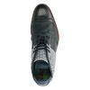 REHAB Kurt 2 Checker blaue Schnürstiefel mit Muster