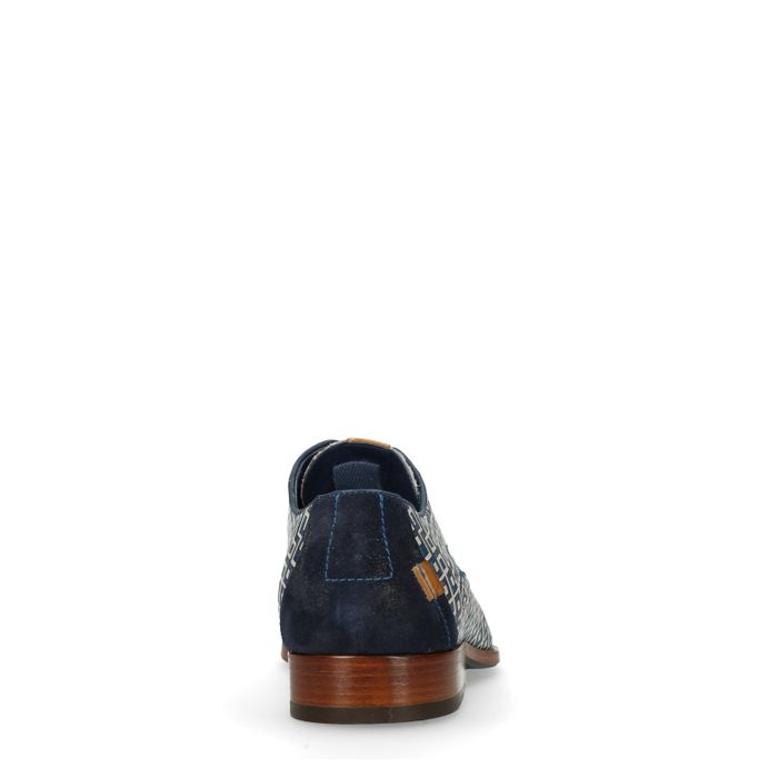REHAB Greg Checker dunkelblaue Schnürschuhe