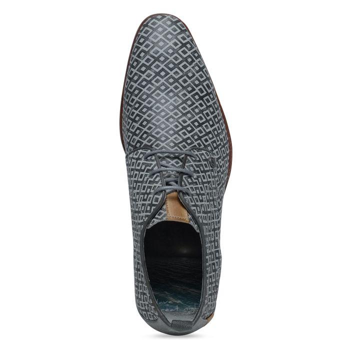 REHAB Schnürschuhe mit Muster grau