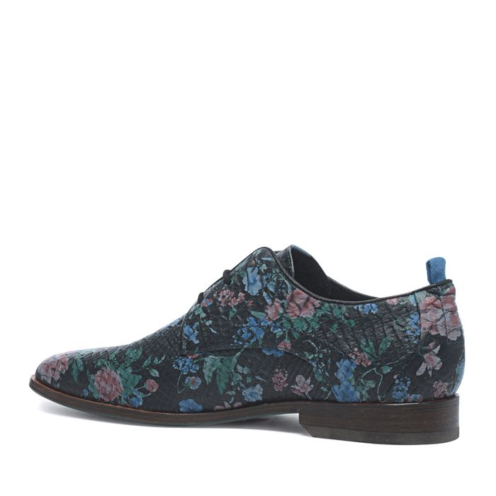 REHAB schwarze Schnürschuhe mit Blumen