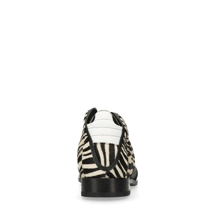 REHAB Kurt II Zebra schwarze Schnürboots