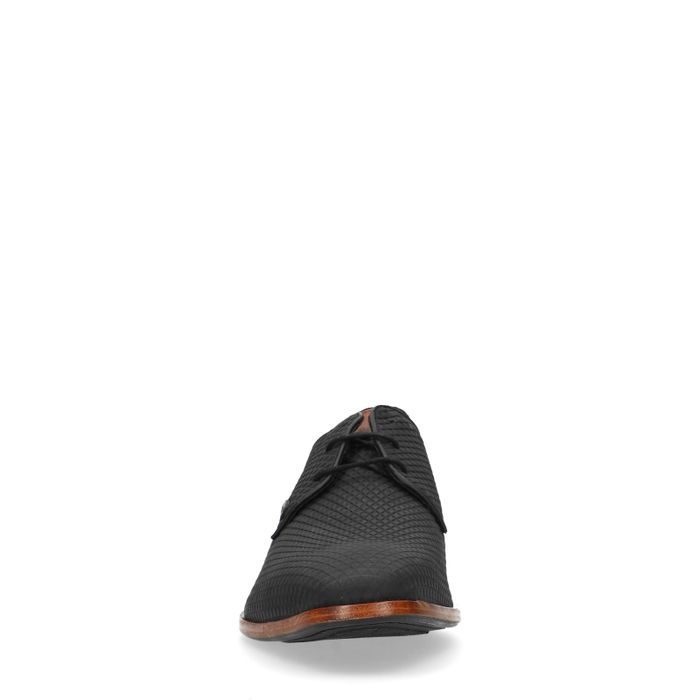 REHAB Greg Triangle schwarze Schnürschuhe