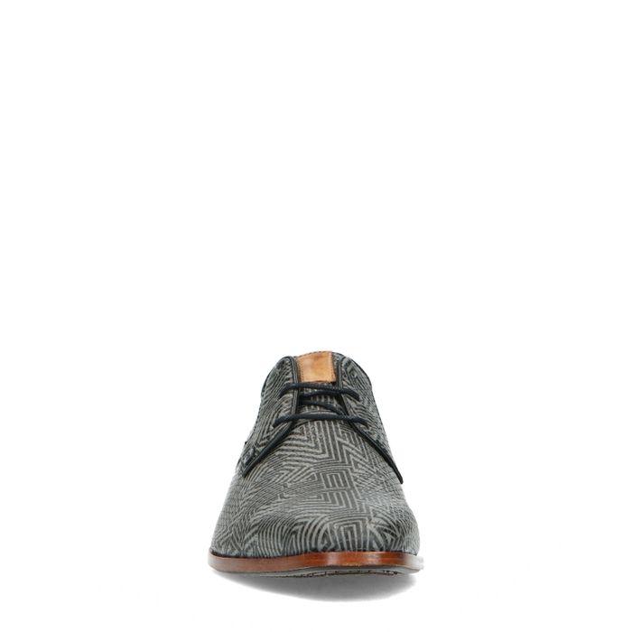 REHAB-Schnürschuhe mit schwarz-grauem Muster