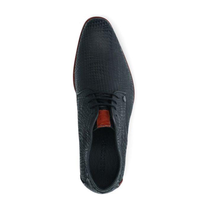 REHAB schwarze Schnürschuhe mit Grafik-Muster