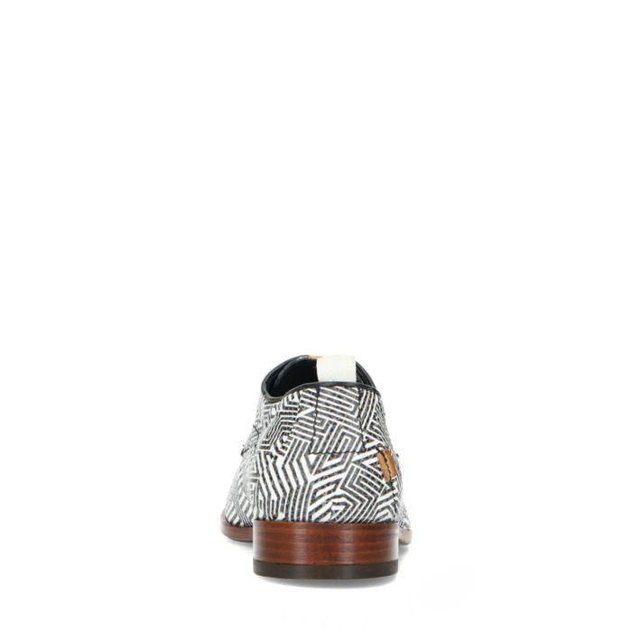 REHAB-Schnürschuhe mit schwarz-weißem Muster
