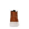 REHAB cognacfarbene Schnürschuhe aus Veloursleder