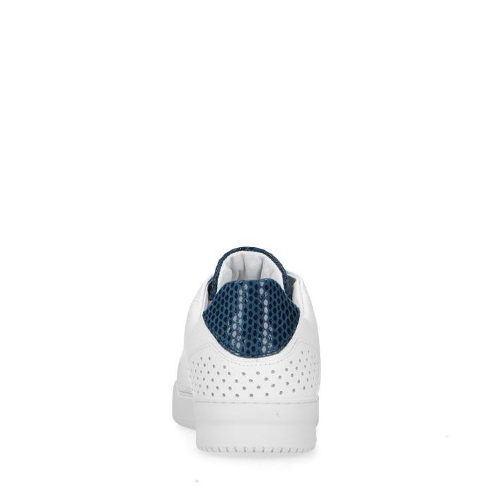 Baskets en cuir avec empiècement sur le contrefort - blanc