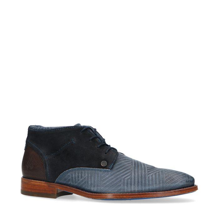 REHAB Salvador zig zag Boots à lacets - bleu
