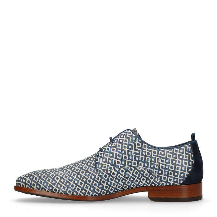 GANT Chaussures à lacets Greg checker - bleu foncé