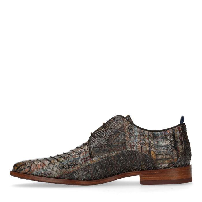 REHAB Greg snake fantasy Chaussures à lacets - marron