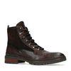 REHAB Melbourne Boots à lacets avec imprimé serpent - marron