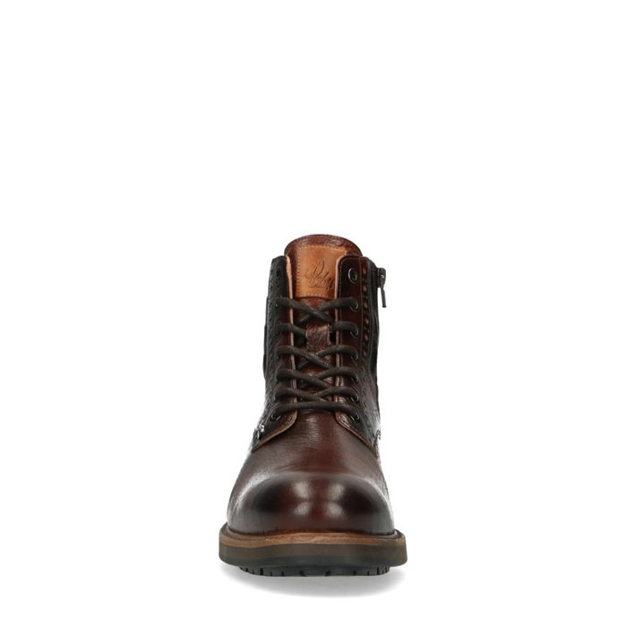 REHAB Neal croco army Boots à lacets - marron