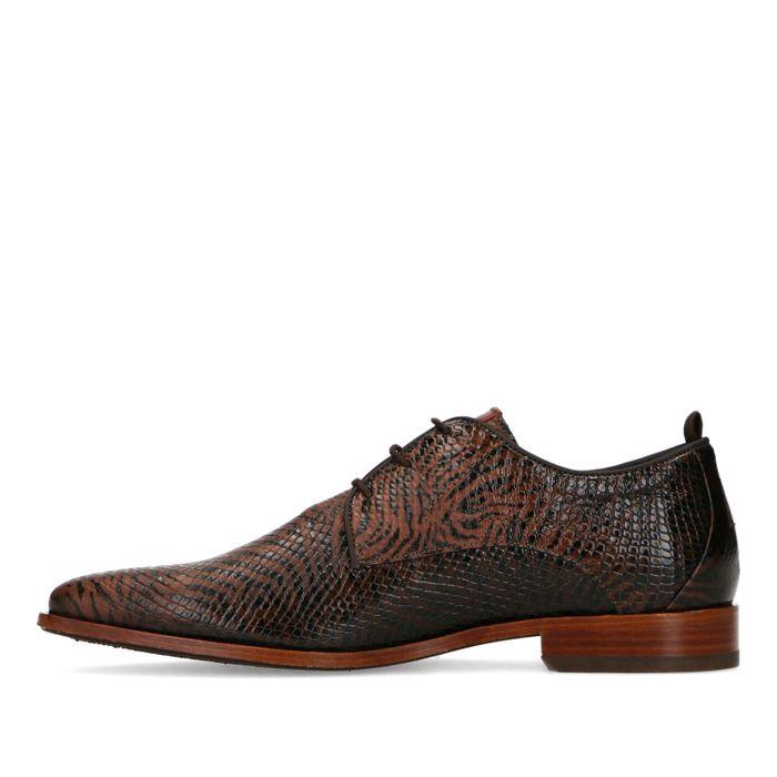 REHAB Chaussures à lacets avec imprimé tigre - marron