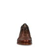 REHAB Kurt snake Chaussures à lacets avec imprimé croco - marron
