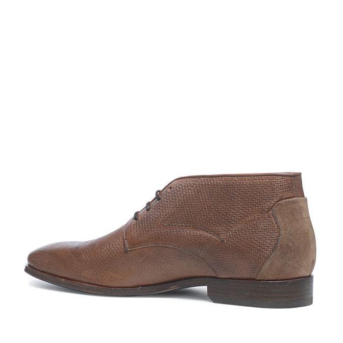 Rehab Boots à lacets avec motif - cognac
