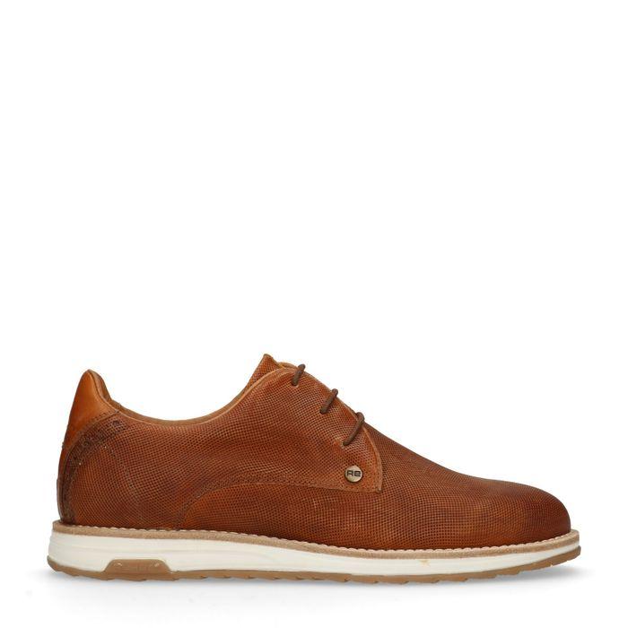 REHAB Chaussures à lacets Nolan perfo - cognac