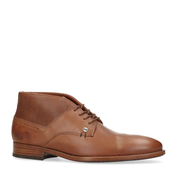 REHAB Alfonso Boots à lacets - cognac