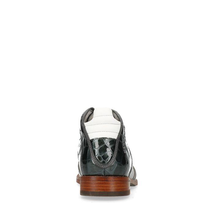 REHAB Kurt II Croco Verniz Boots à lacets - gris