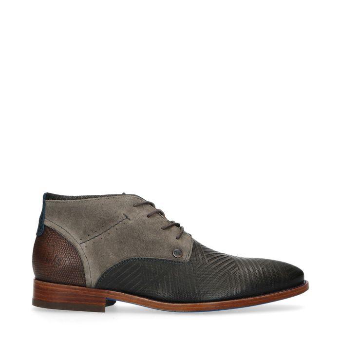 REHAB Salvador zig zag Boots à lacets - gris