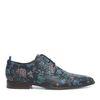 Chaussures à lacets avec fleurs - noir