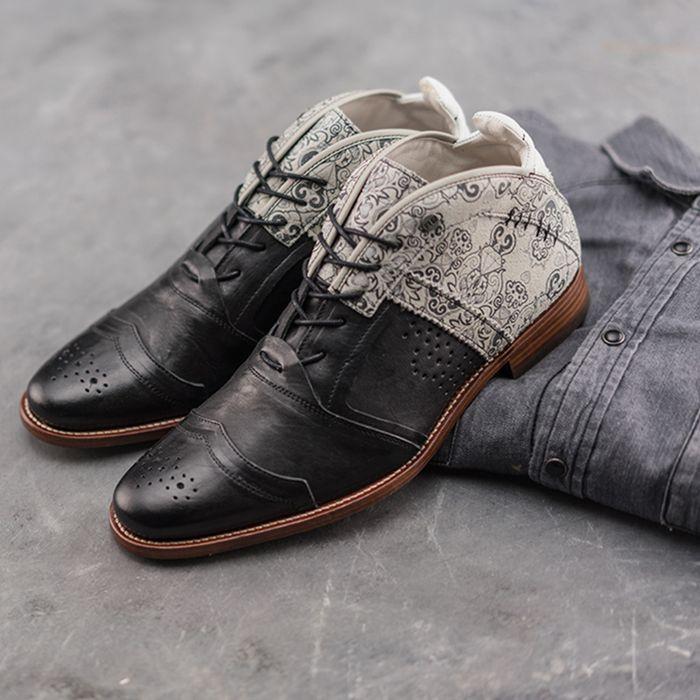 REHAB Kurt II tattoo Chaussures à lacets - noir