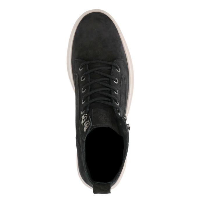 REHAB Chaussures à lacets en daim - noir