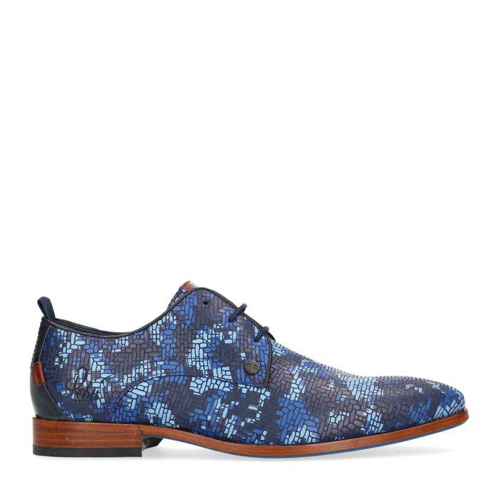 REHAB Greg check Chaussures à lacets - bleu